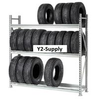 Heavy Duty Tire Rack 3 Tier Starter 96x18x72 | eBay