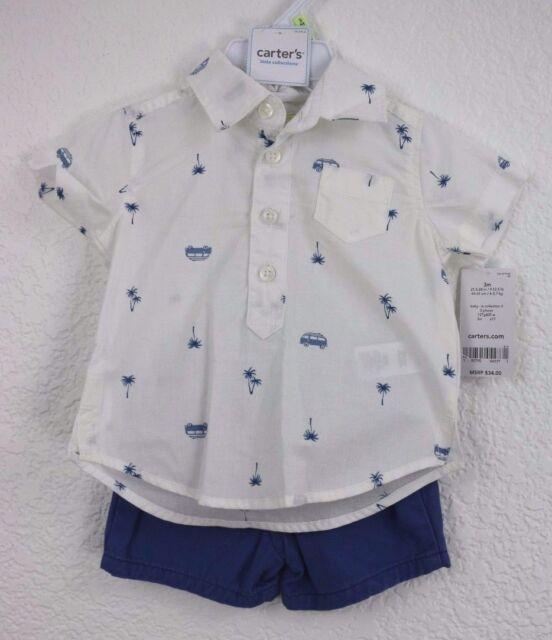 Carter\u0027s Plam Mini Van Baby Boy\u0027s 2 PC Shirt With Pant Size 3m eBay