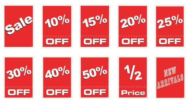 ultra glo burst sale signs sale signs and carts boost my sales - sale signs