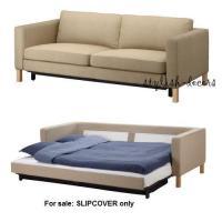IKEA Karlstad Sofa Bed Slipcover 202.030.68 Lindo Beige | eBay