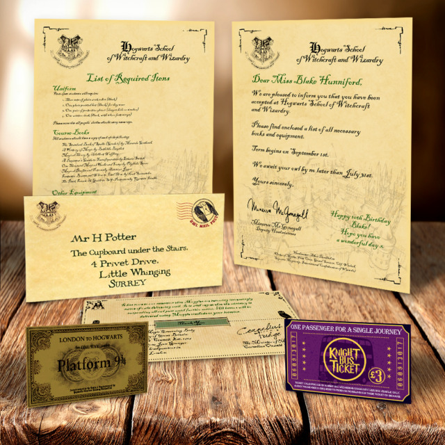Harry Potter Birthday Gift - Personalised Hogwarts Acceptance Letter - hogwarts acceptance letter