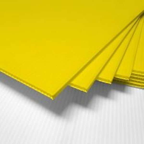 50 Pack Yellow Corrugated Blank Sign Sheet 4mm X 18 - blank sign in sheet