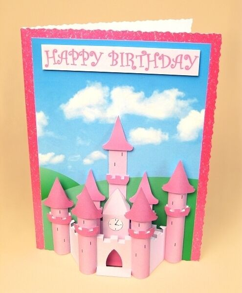 A4 Card Making Templates for 3d Princess Castle Embellishment by