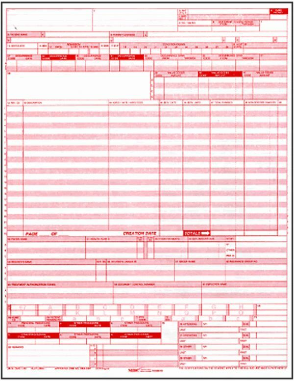 Ub04 \/ Cms 1450 Medical Claim Forms 50 Sheets eBay - medical claim form