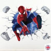 3d Spiderman Wall Sticker Vinyl Art Home Bedroom Marvel ...