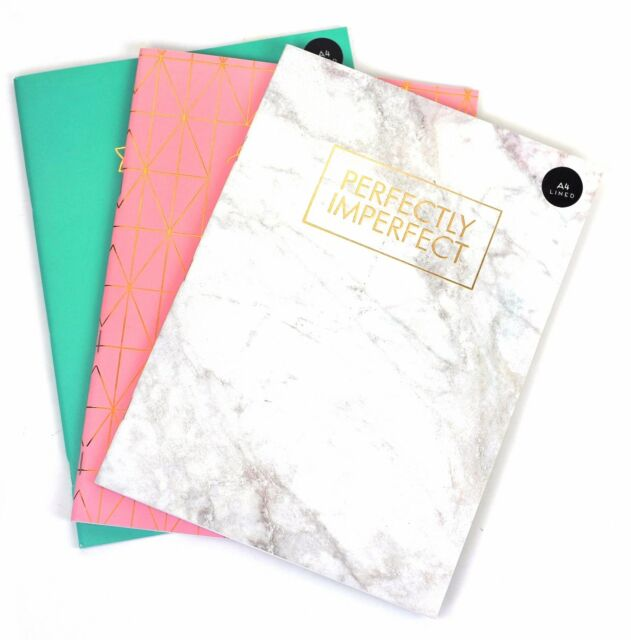 A4 Luxury Notepad Spiral Lined Pad Book 70gsm 100 Page Paper - lined page