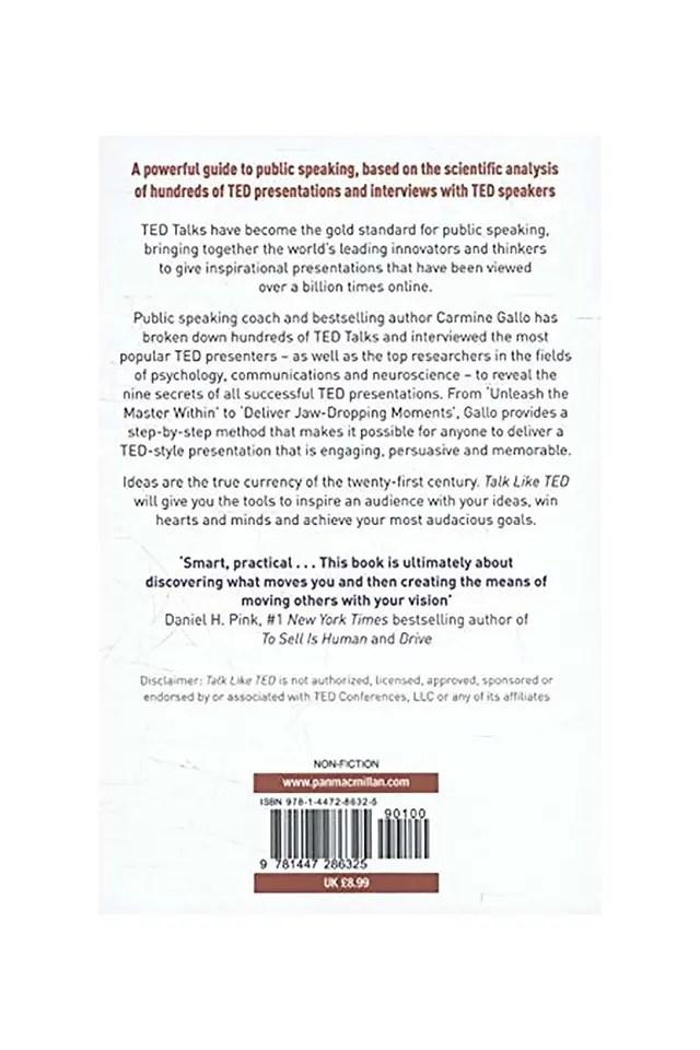 Buy CROSSWORD Talk Like TED The 9 Public Speaking Secrets of the