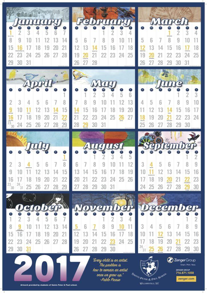 2017 Calendars for Sale! » Saints Peter  Paul