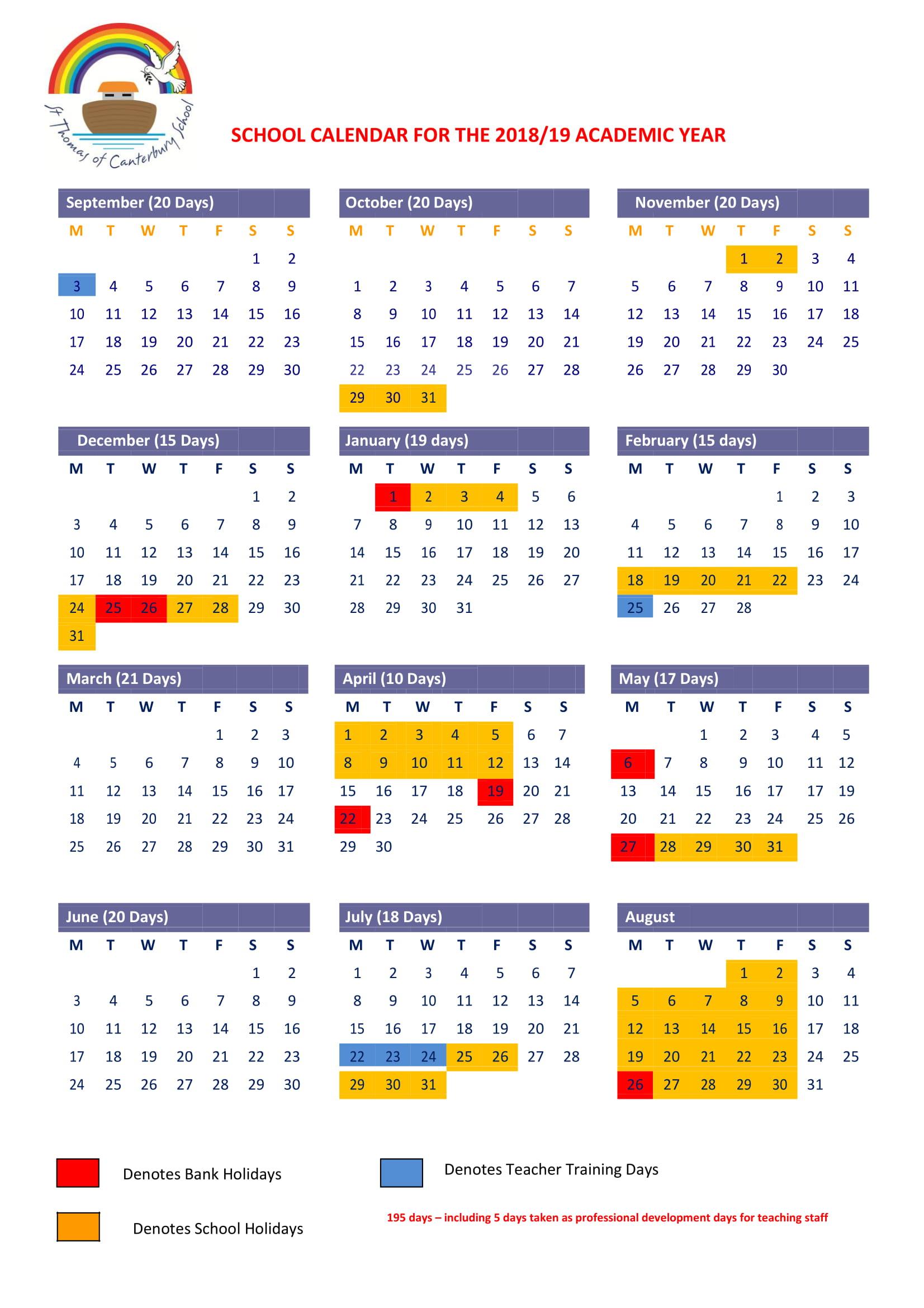 academic calendar planner