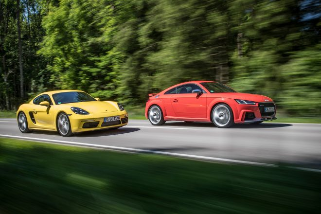 2018 Audi TT RS vs 2017 Porsche 718 Cayman S Automobile Magazine