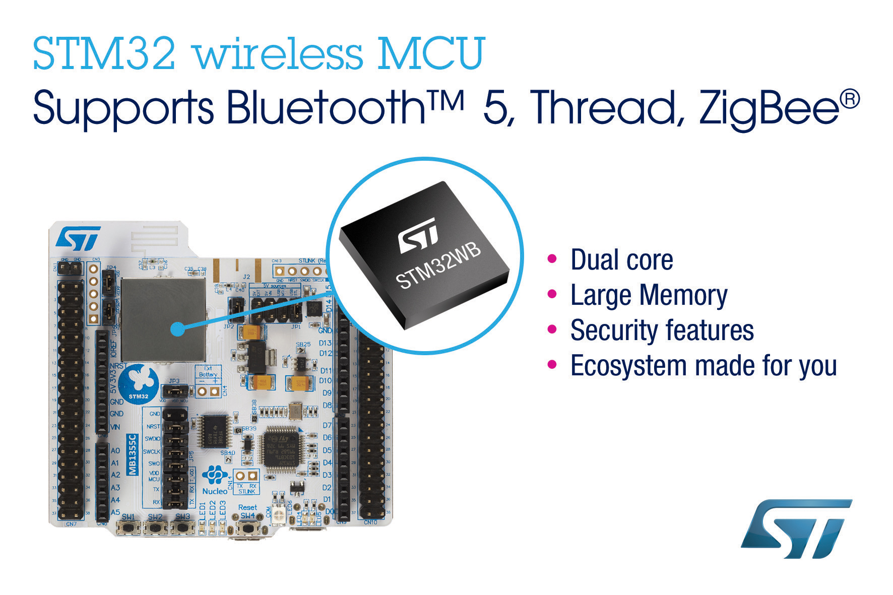 Electronica Medium Font New Stm32wb Dual Core Wireless Mcus From Stmicroelectronics