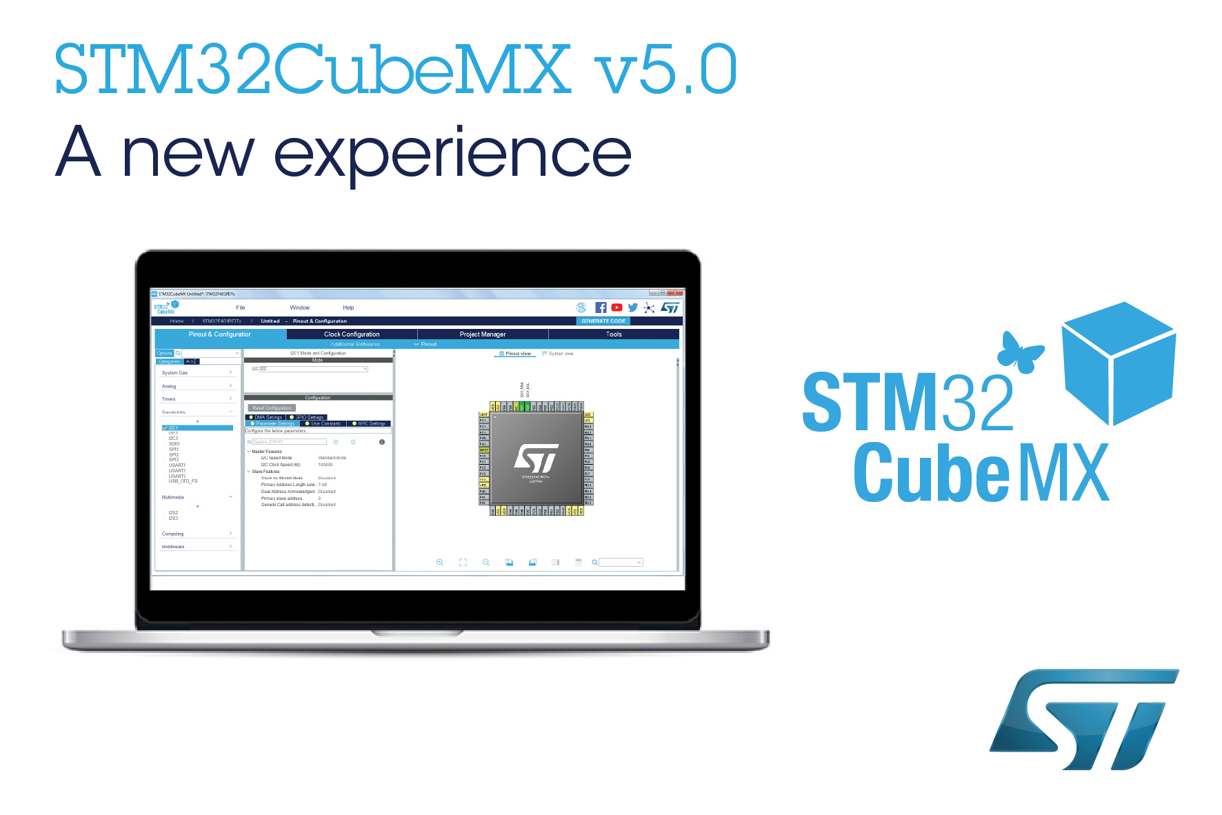Electronica Medium Font Stmicroelectronics Updates Stm32cubemx Mcu Configurator With Multi
