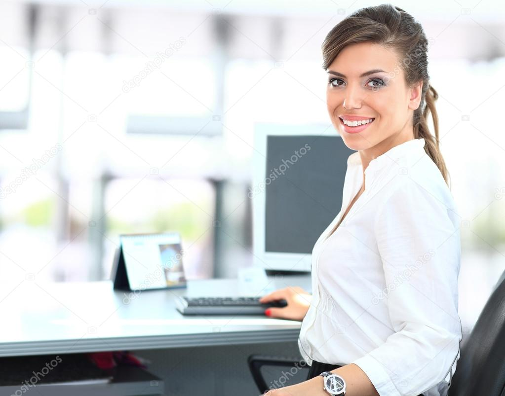 Indian Home Girl Wallpaper Modern Business Woman In The Office Stock Photo