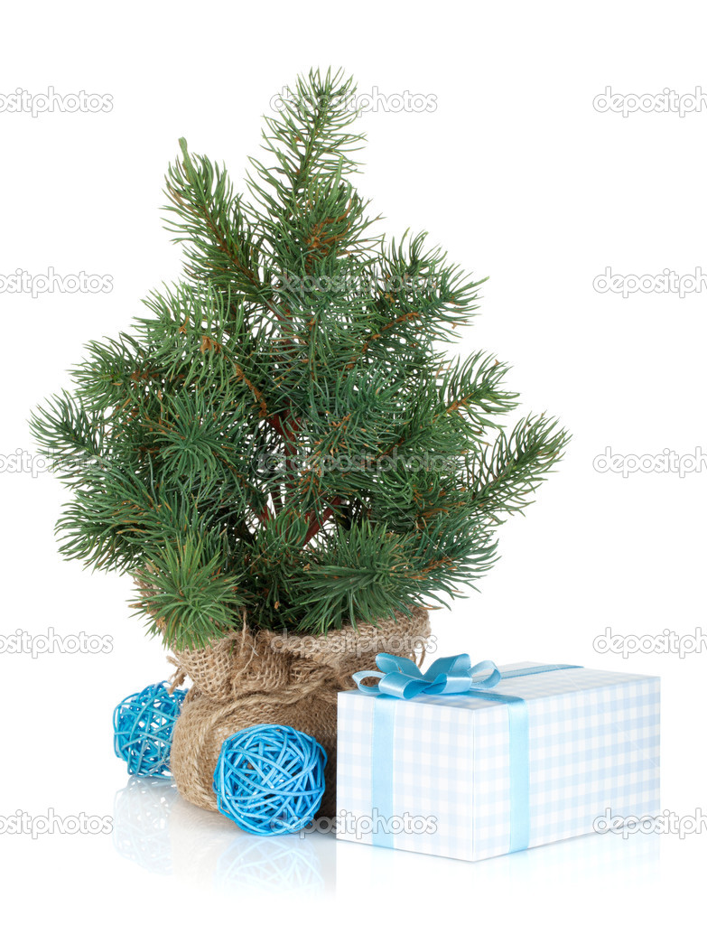 Kerstboom Nep Nep Mini Kerstboom Stockfoto Karandaev 36013307
