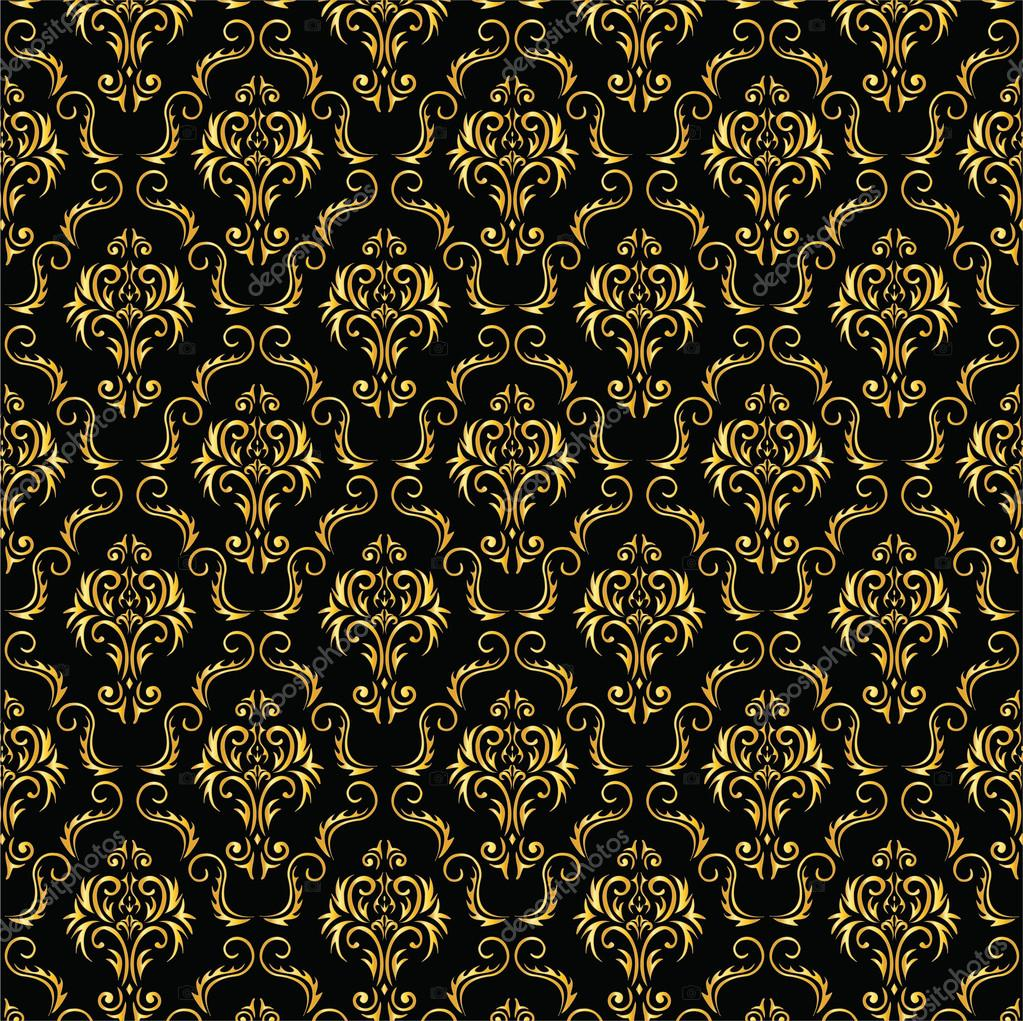Falling Money 3d Live Wallpaper Elegant Black And Gold Background From A Floral Ornament
