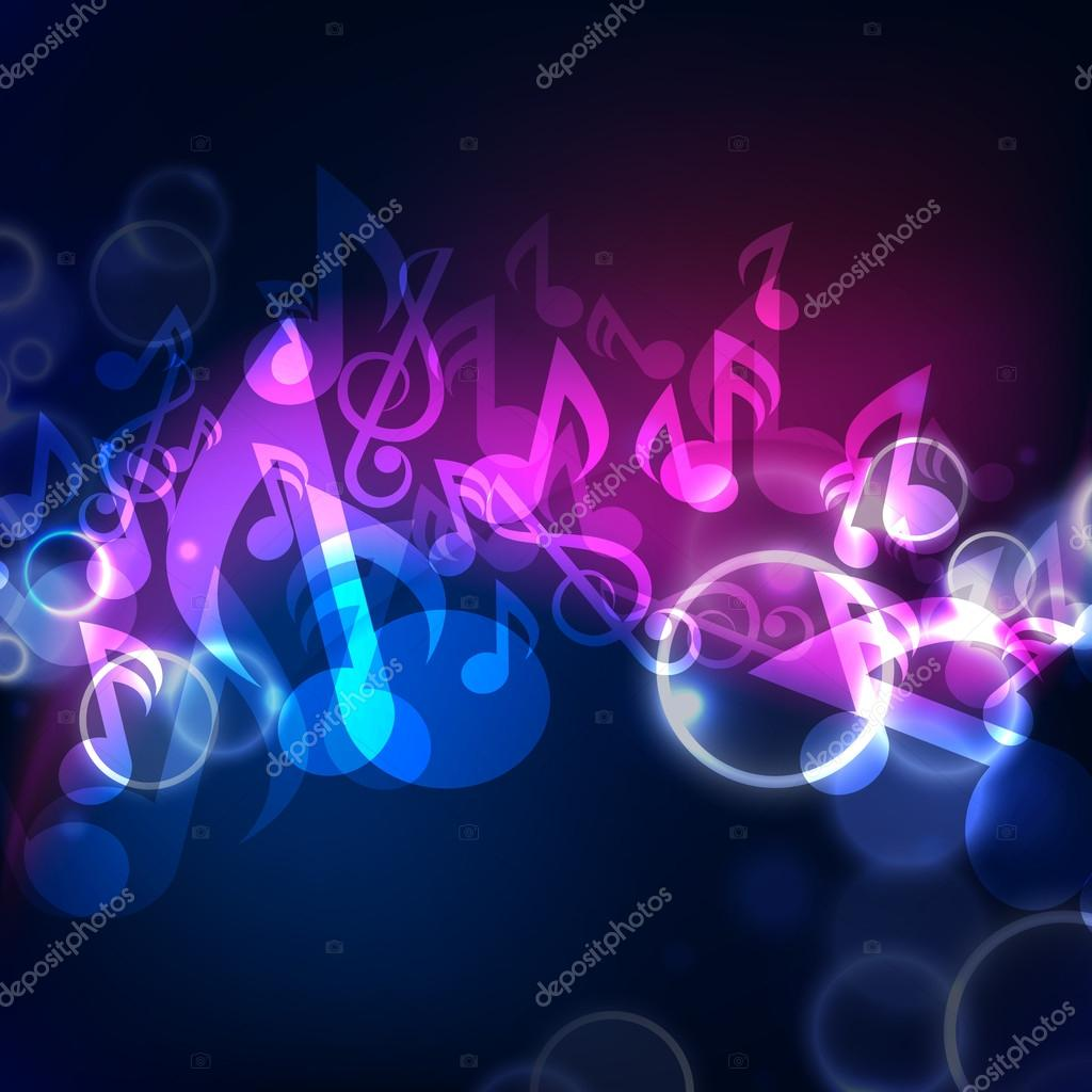 V Letter 3d Wallpaper Shiny Musical Notes Background Flyer Banner Or Poster
