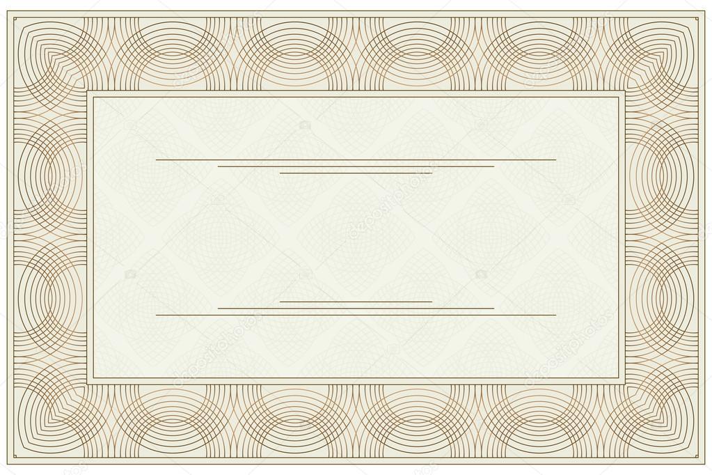 Blank voucher \u2014 Stock Vector © Silantiy #32875423 - blank voucher