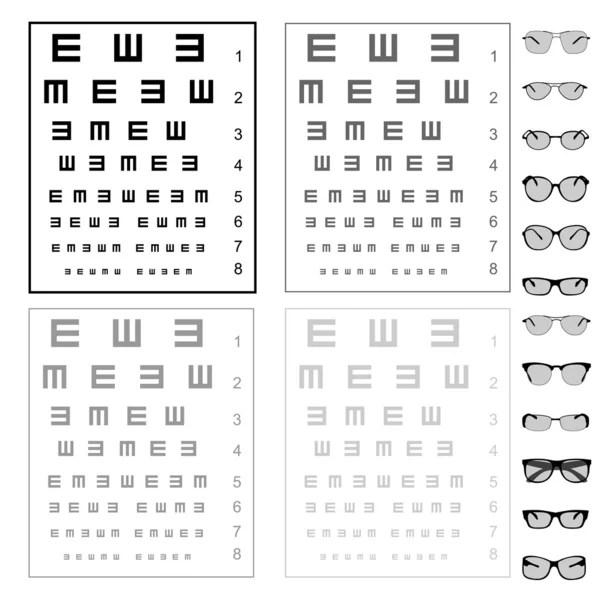 Snellen Eye chart \u2014 Stock Vector © kaludov #6901289