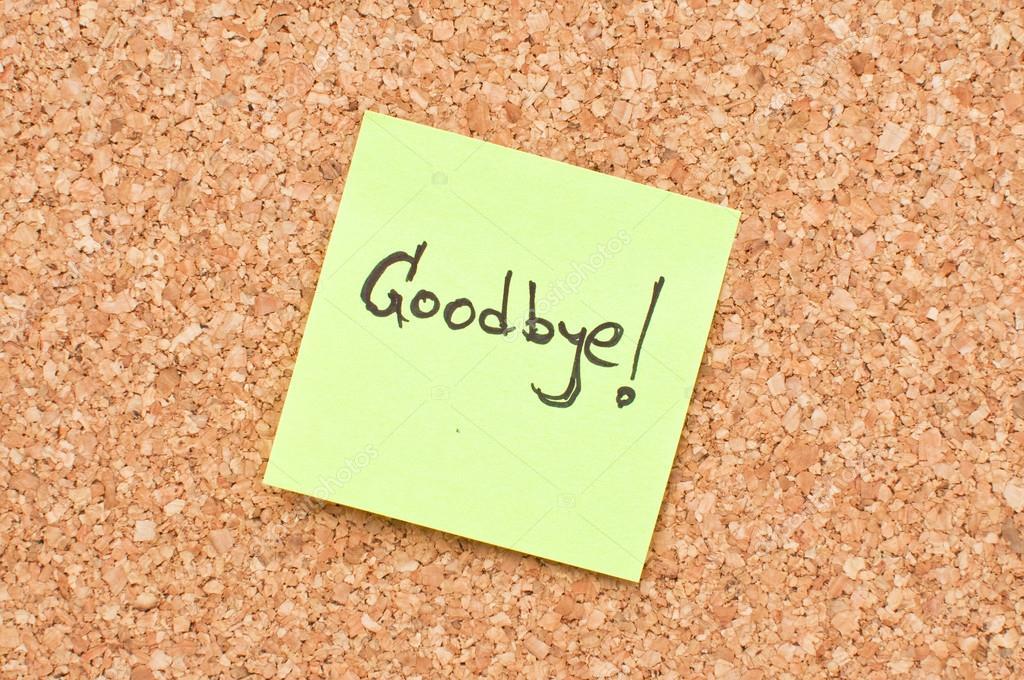 Goodbye note \u2014 Stock Photo © stevanovicigor #14842091 - goodbye note