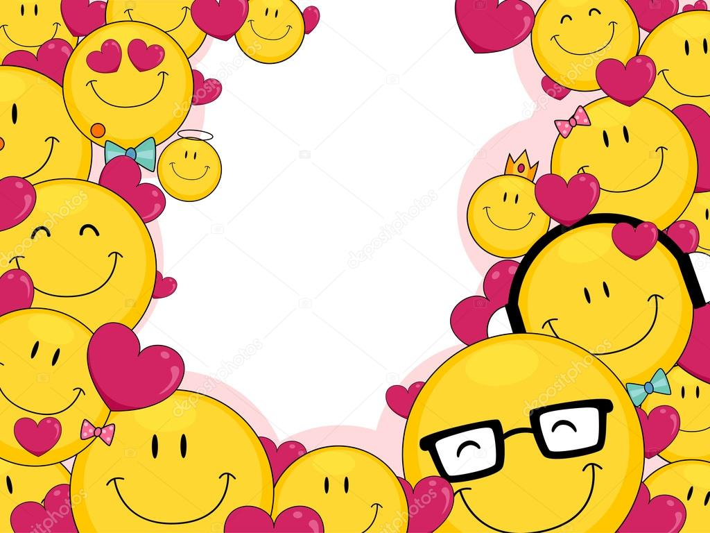 3d Emoticons Wallpapers Love Smileys Stock Photo 12583381
