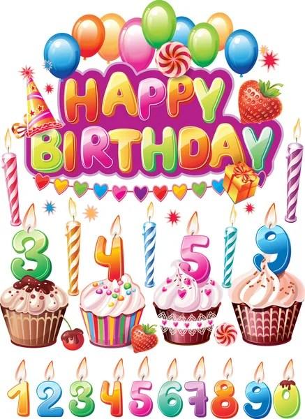Kartki urodzinowe grafika wektorowa Depositphotos®