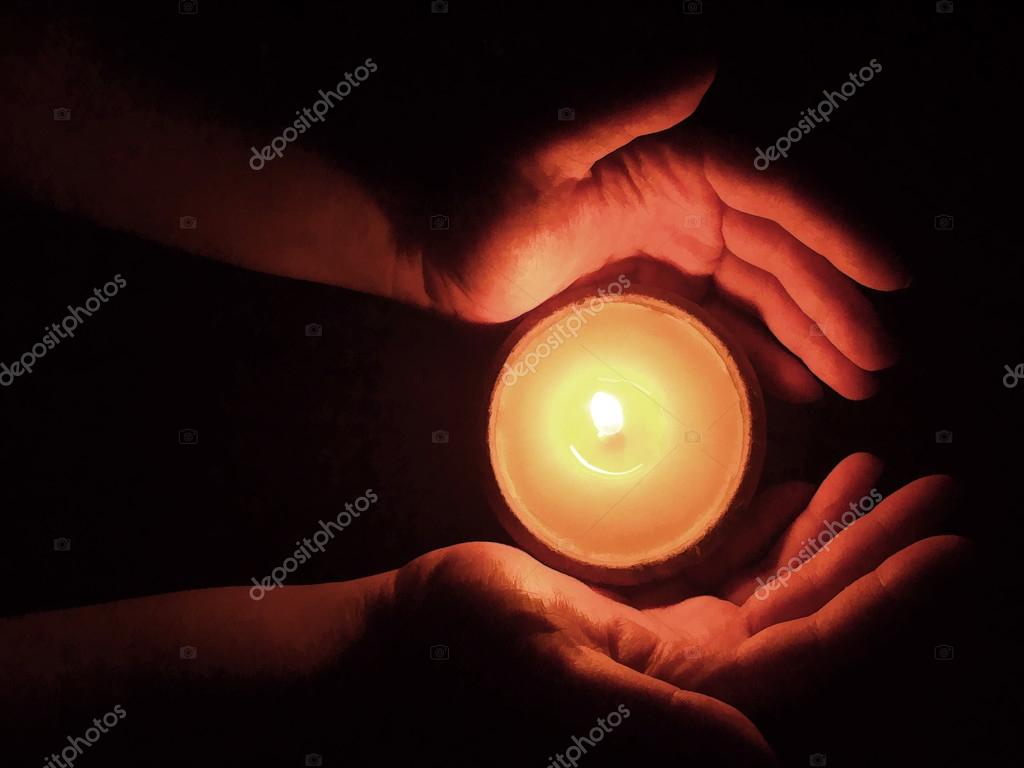 Candle Light Painting Hand With Candle Lights Painting Stock Photo Plinghoo 24714107
