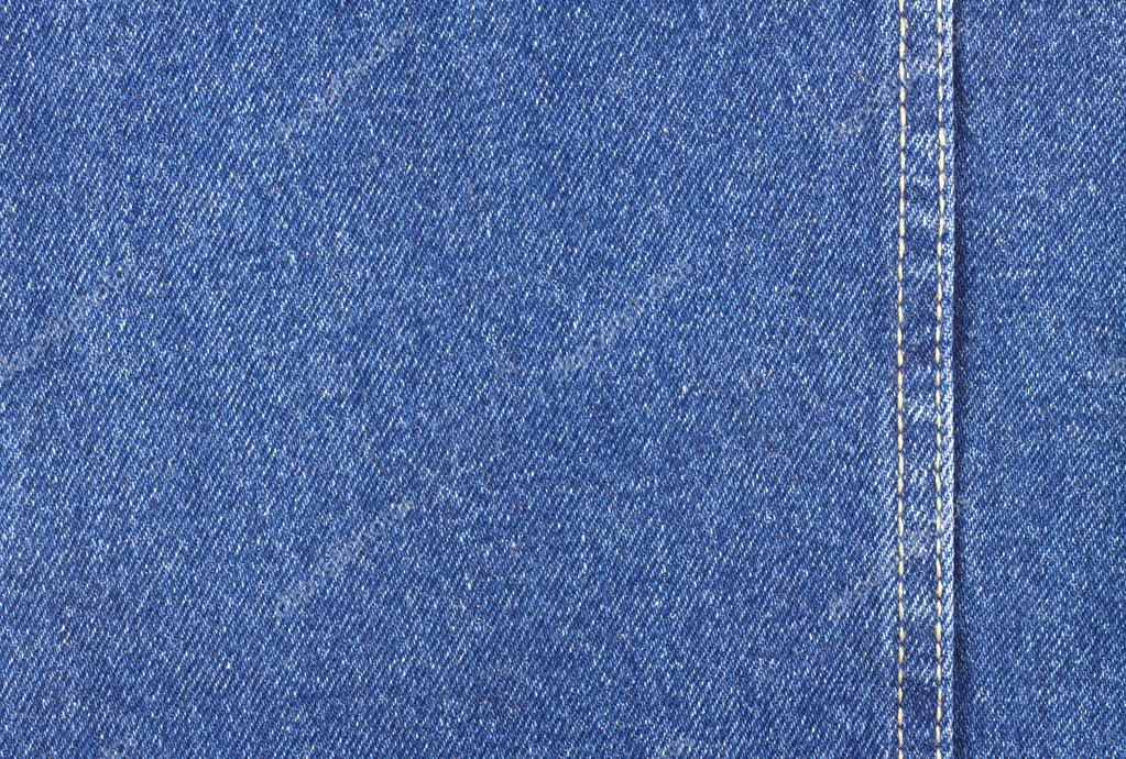 Texture of blue jeans fabric with stitch \u2014 Stock Photo © iDyMax