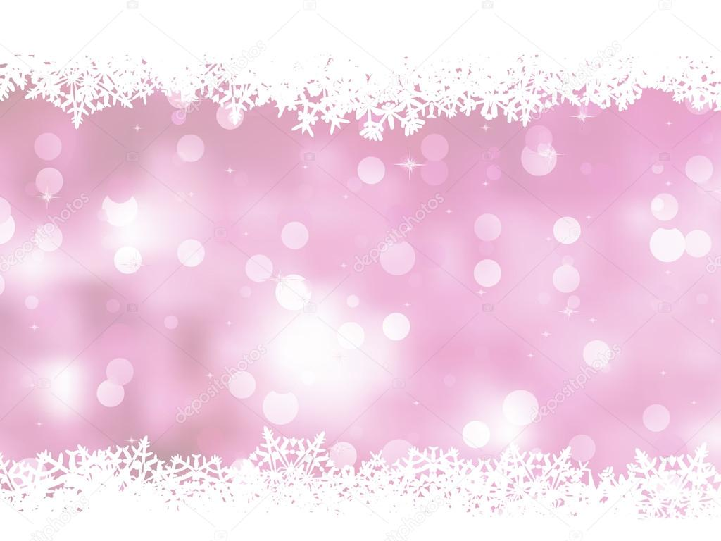 Falling Anow Wallpaper Pink Background With Snowflakes Eps 8 Stock Vector