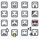 Square Face Emoticons