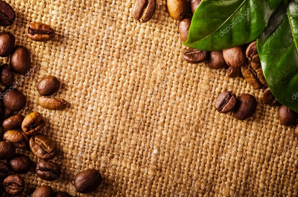 Falling Leaves Hd Live Wallpaper Coffee Beans And Coffee Leaves On Vintage Background