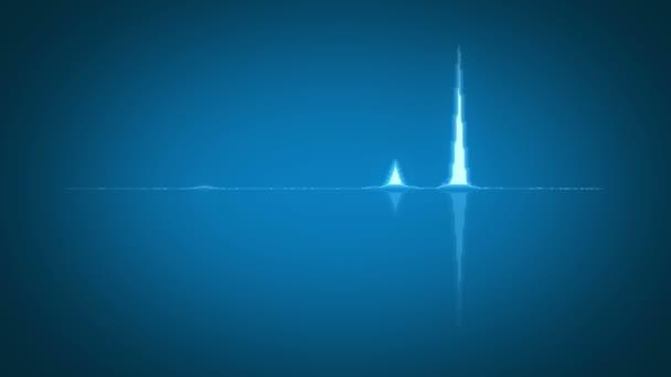 Blue waveform background, HD 1080p, loop \u2014 Stock Video © majcot