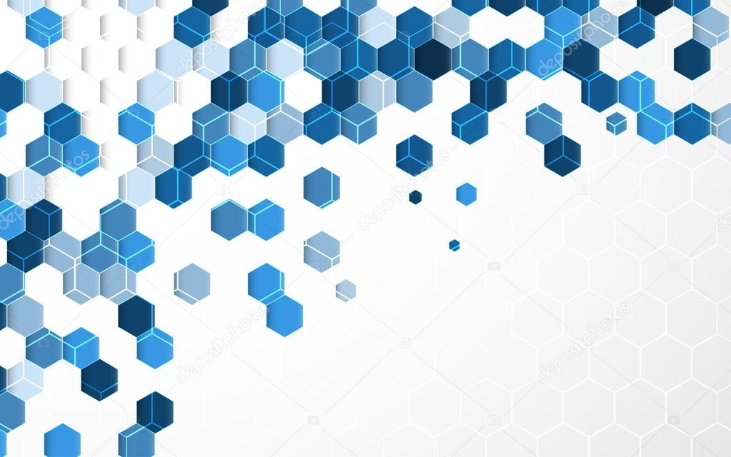 3d Cube Live Wallpaper Download Abstract Light Blue Hexagon Background With White Border