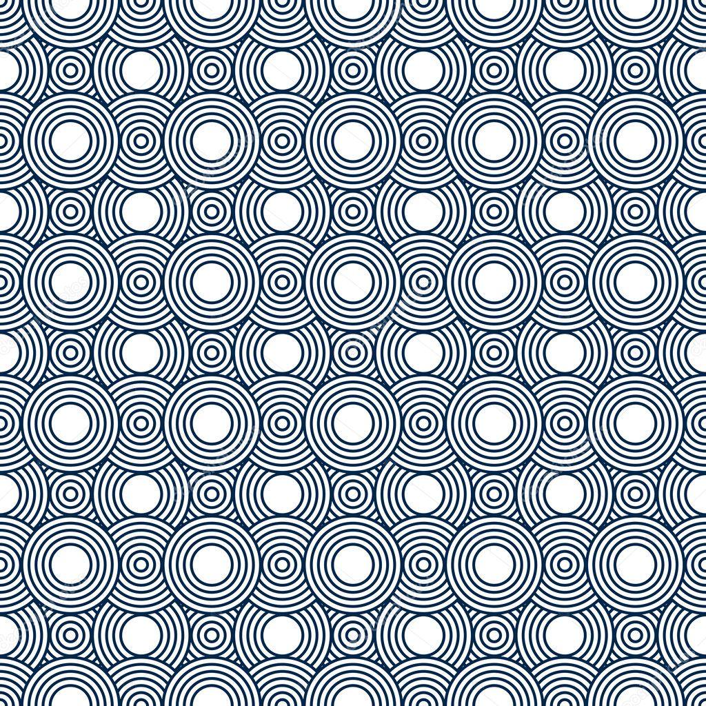 Piastrelle Blu Navy Cool Tende Da Doccia Vector Seamless Patchwork