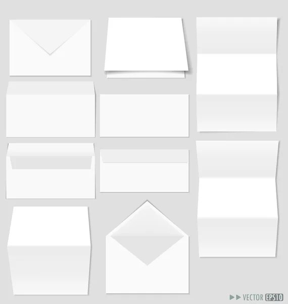 Leaflet letter business card white blank paper template \u2014 Stock - white paper template