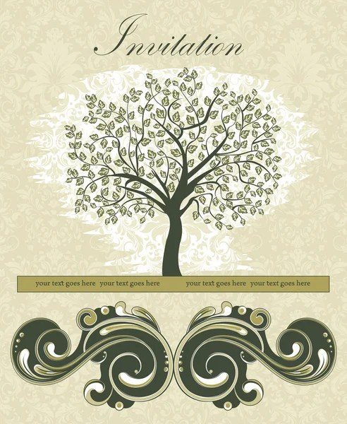 Family Reunion Invitation Card \u2014 Stock Vector © imagepluss #7547574