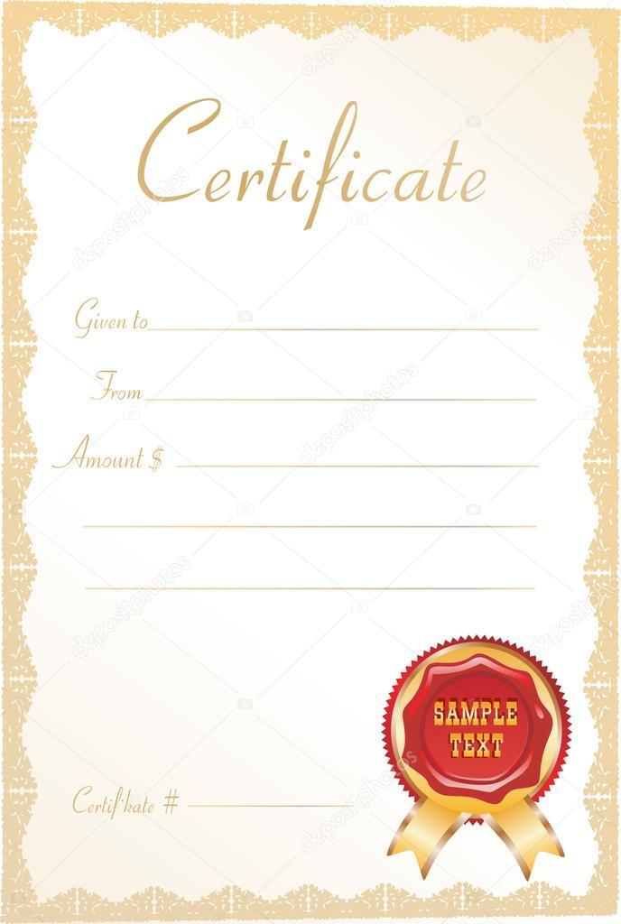 certificado de regalo \u2014 Archivo Imágenes Vectoriales © mitay20 #18511019
