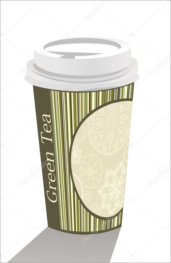 Plastic tea cup templates \u2014 Stock Vector © mitay20 #38611529