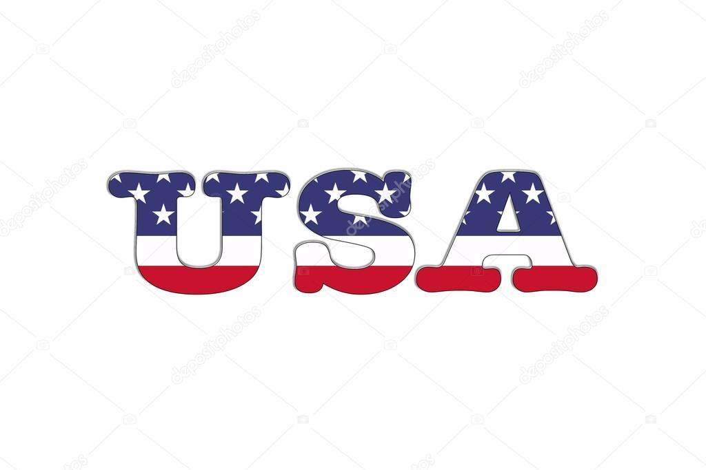 USA word flag \u2014 Stock Photo © StockPhotoAstur #22885522 - word flag