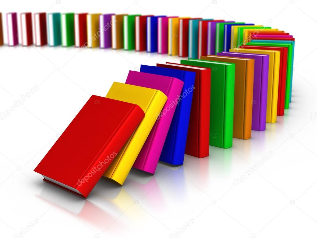 Dominoes Falling Wallpaper Row Of Colourful Books Domino Effect Stock Photo 169 Ayzek