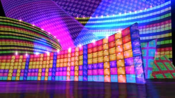 Disco stage virtual set background HD \u2014 Stock Video © realcg #26469765