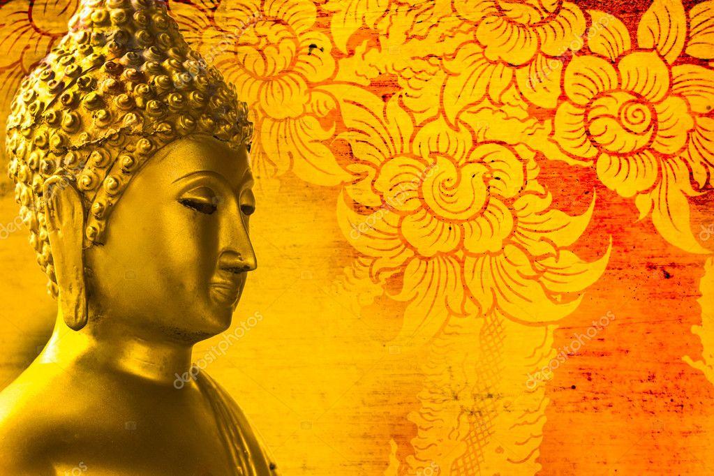 Zen Quote Wallpapers Buddha Gold Statue On Golden Background Patterns Thailand