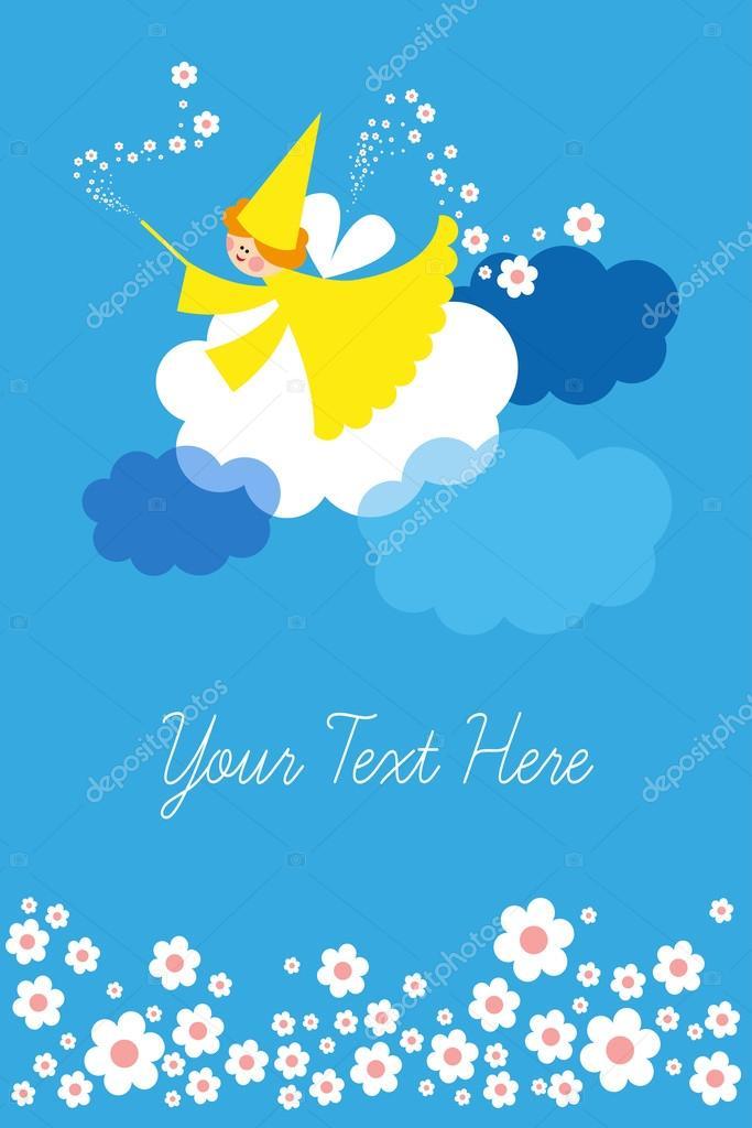 cartões de aniversário, fundo infantil \u2014 Vetor de Stock