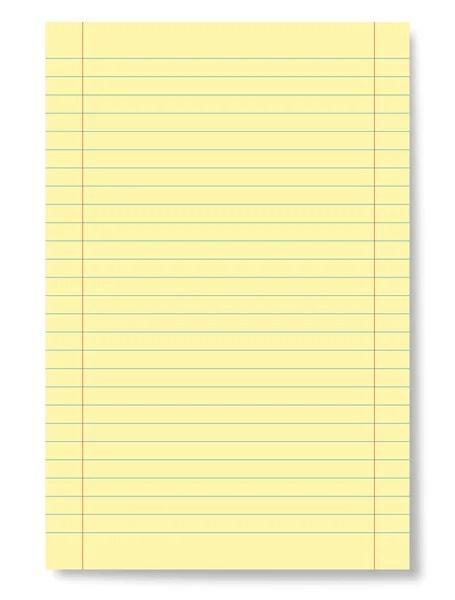 Notepad lined page \u2014 Stock Vector © tuulijumala #2512392