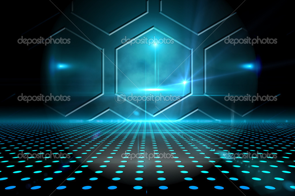Technological black and blue background \u2014 Stock Photo