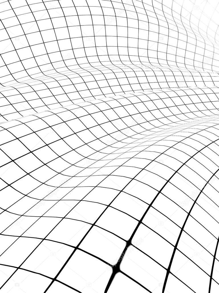 3d Cube Live Wallpaper Download 3d Grid Covered Curved Surface Stock Photo 169 Chernetskiy