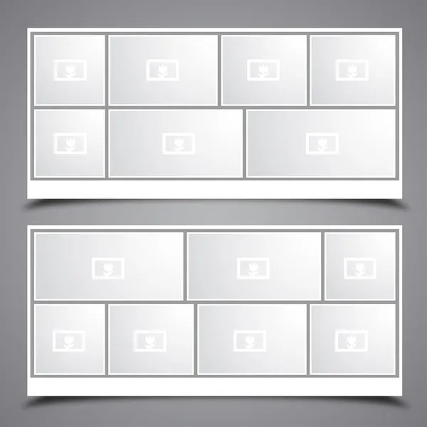 Collage template Stock Vectors, Royalty Free Collage template