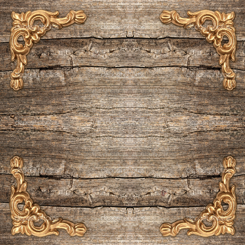 Live Wallpaper Money Falling Rustic Wooden Background With Golden Corner Stock Photo