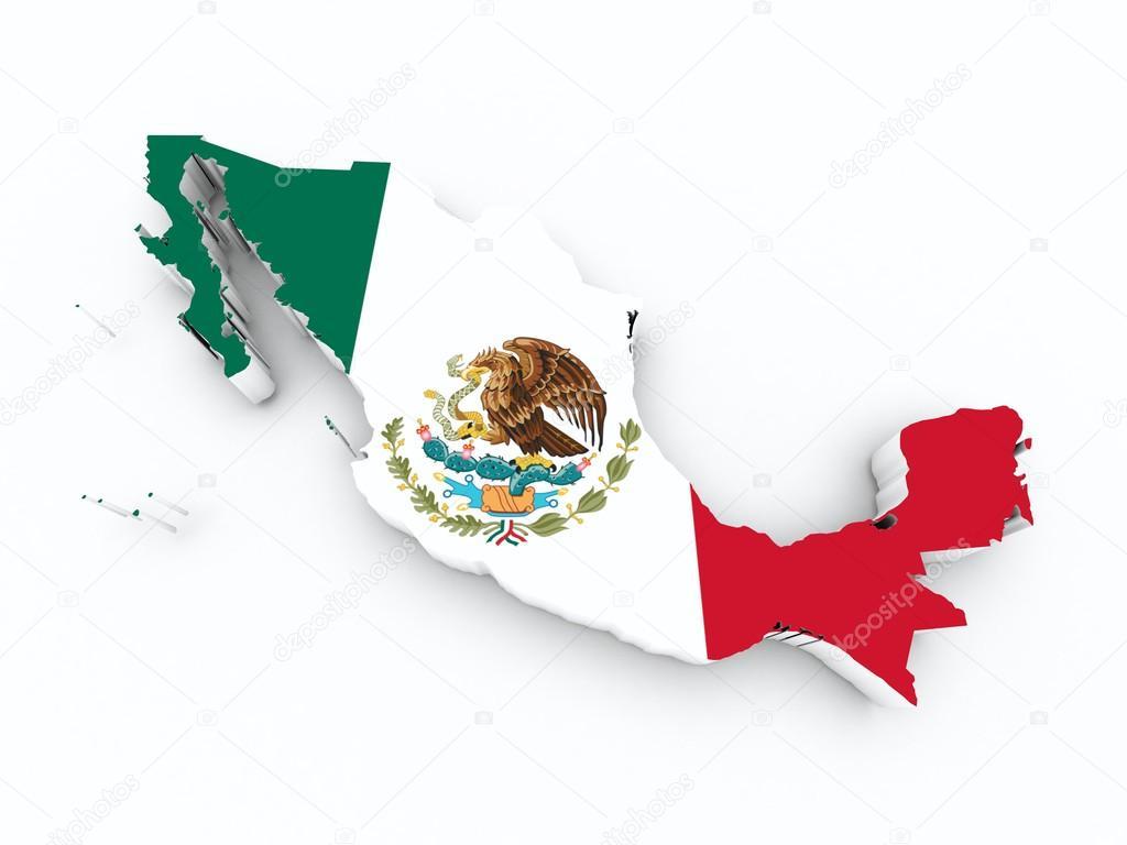 3d Argentina Flag Live Wallpaper Mexiko Flagge Auf 3d Karte Stockfoto 169 Godard 20084649
