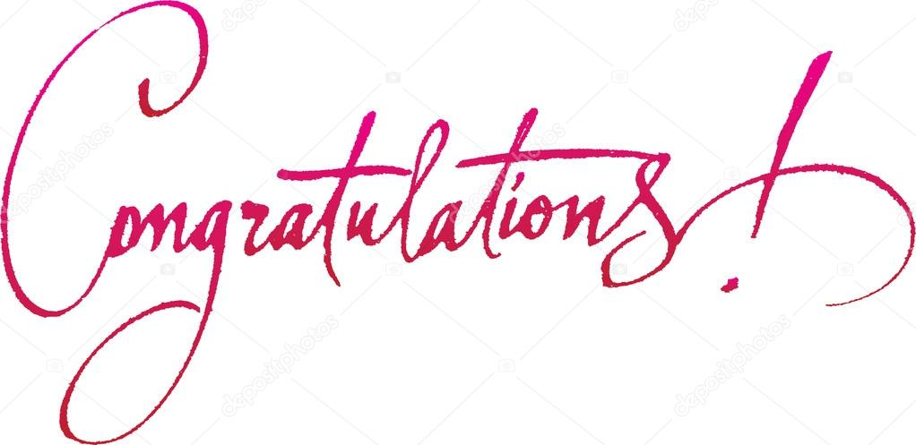 How To Write A Congratulations Email For A Promotion Quot;congratulationsquot; Original Handwritten Calligraphy For