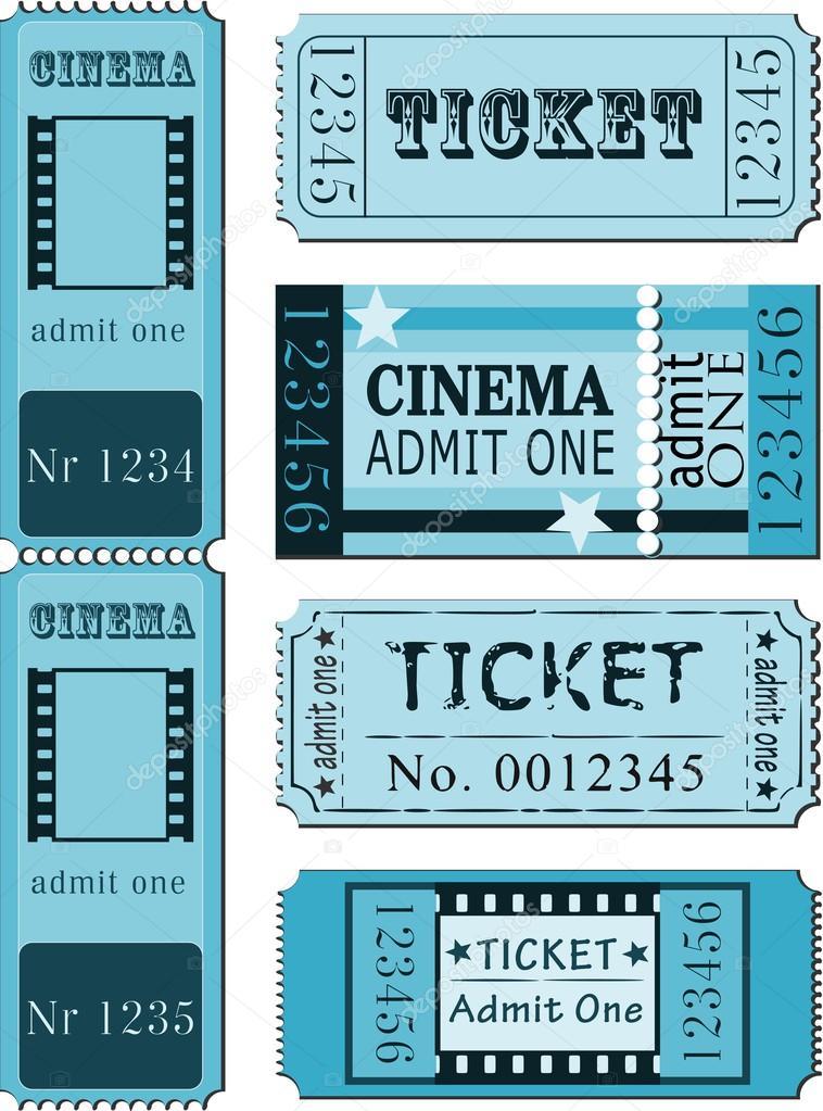 Set of movie ticket templates u2014 Stock Vector © SiwaBudda #28595733 - movie ticket template